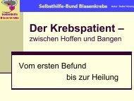Der Krebspatient - Zwischen Hoffen und Bangen (1.730 KB