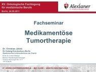 Medikamentöse Tumortherapie