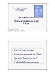 """Expertenstandard """"Schmerzmanagement in der Pflege"""""""