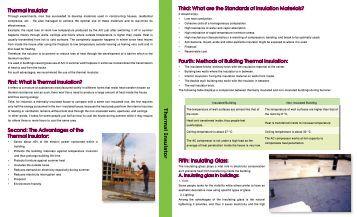 Thermal Insulator Brochure - Kahramaa