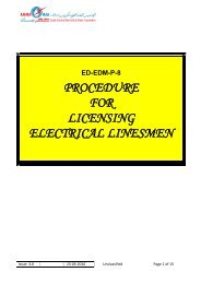 Electricity Planning Regulations for Supply - Kahramaa