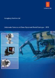 Underwater Cameras and Sonar Equipment Rental Catalogue 2010