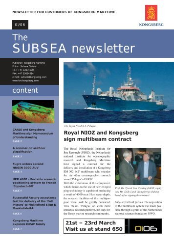March 2006 - Kongsberg Maritime
