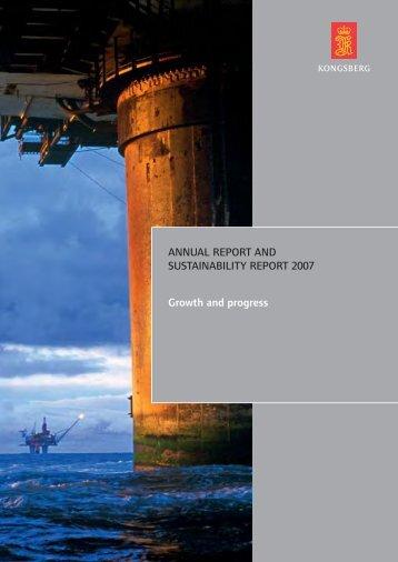 Report - Kongsberg Gruppen 2007 - Kongsberg Maritime ...