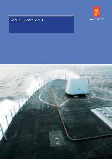 Annual Report 2010 (pdf) - Kongsberg Maritime - Kongsberg Gruppen