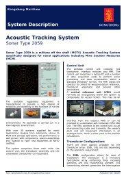 Acoustic tracking system, sonar type 2059 - Kongsberg Maritime