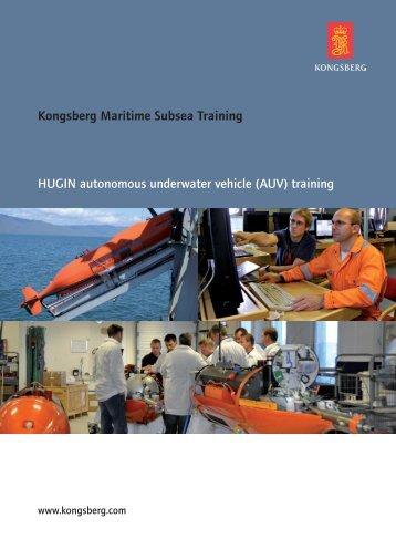 HUGIN autonomous underwater vehicle (AUV) - Kongsberg Maritime