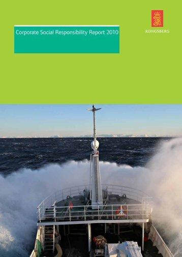 CSR Report 2010 - Kongsberg Maritime