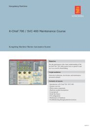 K-Chief 700 SVC 400 Maintenance Course.indd - Kongsberg Maritime