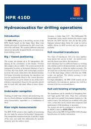 HPR 410D, Hydroacoustic products for drilling applications