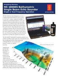 MS 1000ES - Single beam bathymetric echo sounder data sheet (pdf)