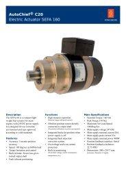 AutoChief® C20 Electric Actuator SEFA 160 - Kongsberg Maritime