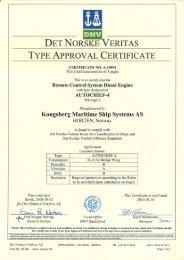 det norske eritas type approval certificate - Kongsberg Maritime