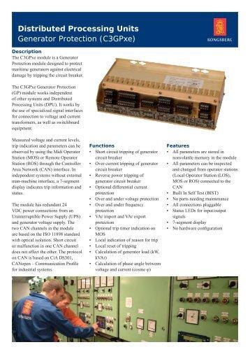 Generator protection module, RIO-C3GPxe - Kongsberg Maritime