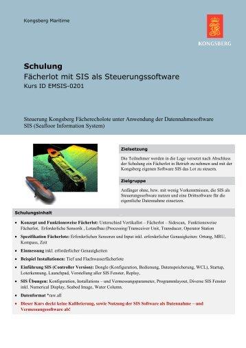 Fächerlot mit SIS als Steuerungssoftware, Kurs ID EMSIS-0201