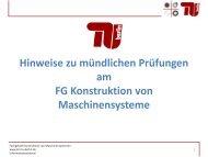 Hinweise zu mündlichen Prüfungen am FG Konstruktion von ...