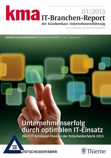 kma IT-Branchen-Report 01/2013 der Krankenhaus ... - kma Online