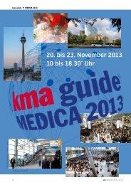 kma guide MEDICA 2013 - kma Online