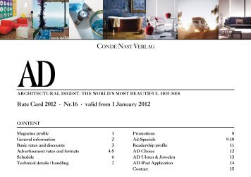 Rate Card 2012 · Nr. 16 · valid from 1 January 2012 - ad-magazin