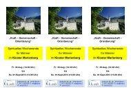 Spirituelles Wochenende für Männer im Kloster Marienberg ...