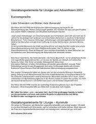Liturgiebehelf Advent 2007 - Katholische Männerbewegung ...