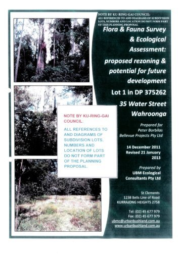 Flora & Fauna Survey & Ecological Assessment (pdf. 5MB)