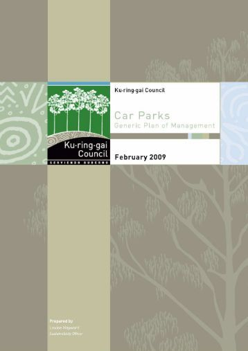 Car Parks Plan of Management (pdf. 403KB) - Ku-ring-gai Council