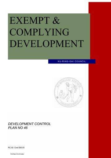 EXEMPT & COMPLYING DEVELOPMENT - Ku-ring-gai Council