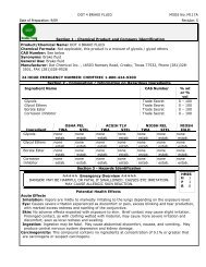 DOT 4 BRAKE FLUID MSDS No. MI17A Date of Preparation ... - KMCO