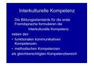 Interkulturelle Kompetenz (Vortrag SL) - KMK-Projekt Format