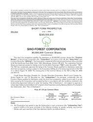 Short Form Prospectus (June 1, 2009)