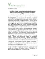 Sino Press Release - June 22, 2010