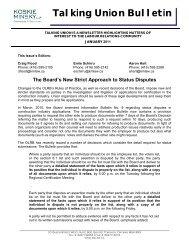 Talking Union Bulletin - Koskie Minsky LLP