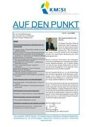 AUF DEN PUNKT - Kompetenzregion Mittelstand Siegen-Wittgenstein