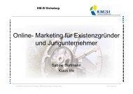 Online- Marketing für Existenzgründer und Jungunternehmer