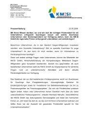 mehr dazu - Kompetenzregion Mittelstand Siegen-Wittgenstein