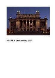 jaarverslag 2007 - Koninklijk Museum voor Schone Kunsten ...