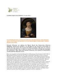 Un portrait de la collection du Musée Royal des Beaux-Arts d