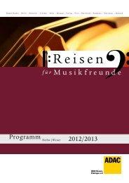 Programm - ADAC Musikreisen