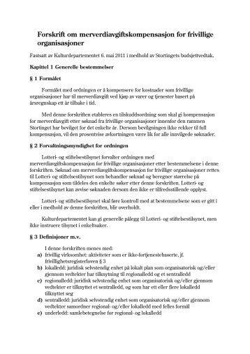 Ny Forskrift av 6. mai 2011 (.pdf) - Regjeringen.no