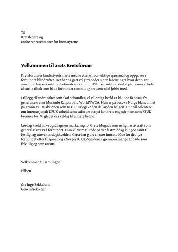 Invitasjon til Kretsforum