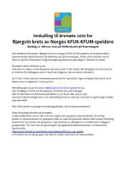 Innkalling og saksliste - Norges KFUK-KFUM-speidere