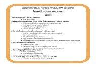Fremtidsplan 2010-2012 - KFUK-KFUM-speiderne