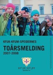 Toårsmelding 2007-2008 - KFUK-KFUM-speiderne