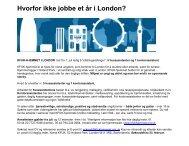 Hvorfor ikke jobbe et r i London - KFUK-KFUM-speiderne