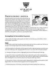Profilering i media - KFUK-KFUM-speiderne