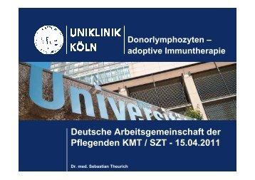 Vortrag zum Thema DLI - Deutsche Arbeitsgruppe KMT / SZT der ...
