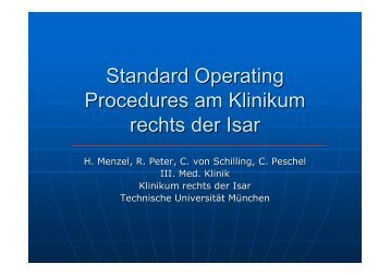 Standard Operating Procedures am Klinikum rechts der Isar
