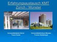 Erfahrungsaustausch KMT Zürich / Münster - KMT / SZT AG