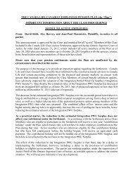 Notice to Active Employees - Koskie Minsky LLP